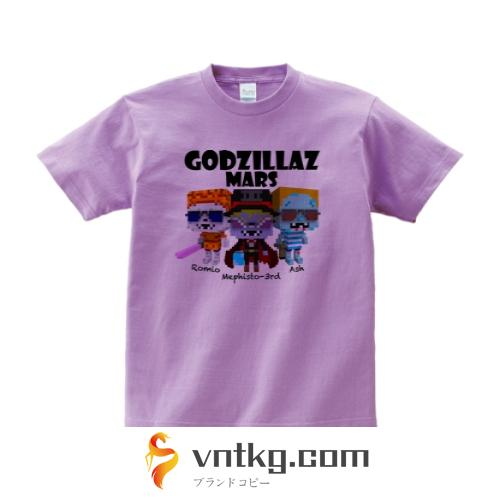 GODZILLAZ-MARS Tシャツ XLサイズ ライトパープル
